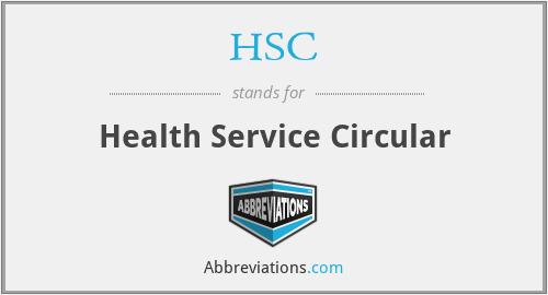HSC - Health Service Circular