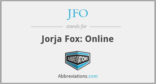 JFO - Jorja Fox: Online