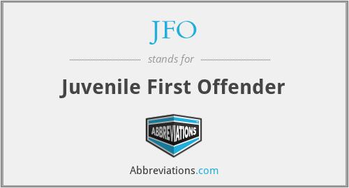 JFO - Juvenile First Offender