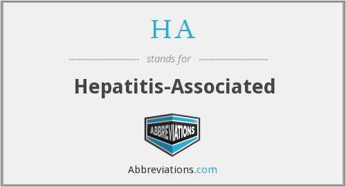 HA - hepatitis-associated