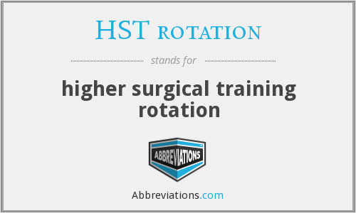 What does HST ROTATION stand for?