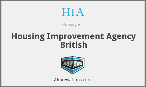 HIA - Housing Improvement Agency British