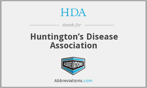 HDA - Huntington's Disease Association