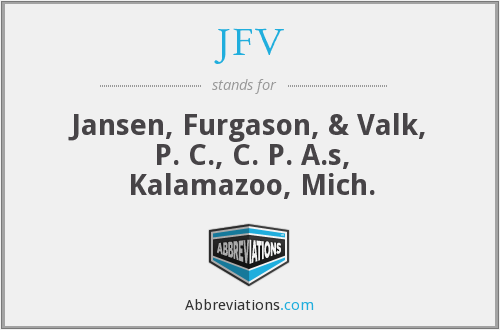 What does JFV stand for?