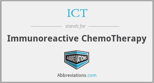 ICT - Immunoreactive ChemoTherapy