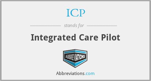 ICP - Integrated Care Pilot
