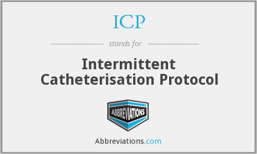 ICP - Intermittent Catheterisation Protocol