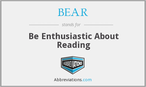 BEAR - Be Enthusiastic About Reading