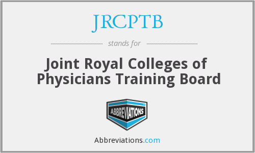 JRCPTB - Joint Royal Colleges of Physicians Training Board
