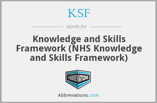 KSF - Knowledge and Skills Framework (NHS Knowledge and Skills Framework)
