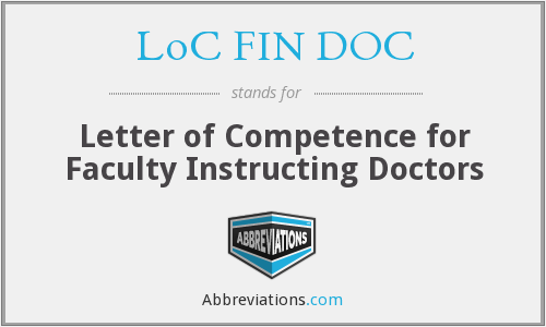 What does LOC FIN DOC stand for?