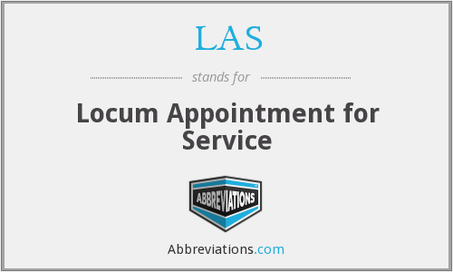LAS - locum appointment for service