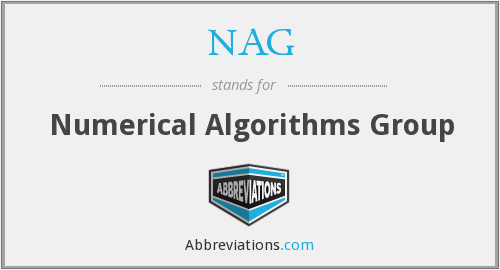 NAG - Numerical Algorithms Group