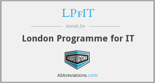 LPfIT - London Programme for IT