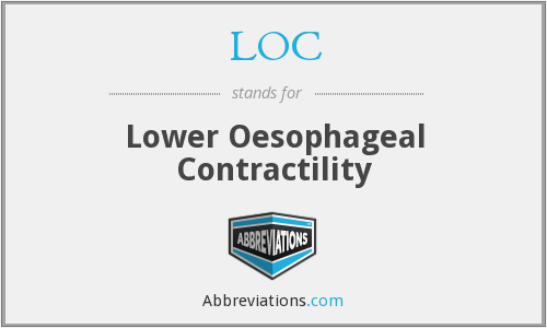 LOC - lower oesophageal contractility