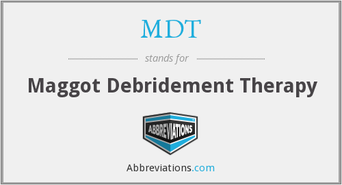 MDT - maggot debridement therapy