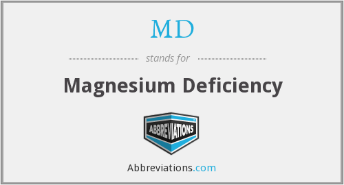 MD - Magnesium Deficiency