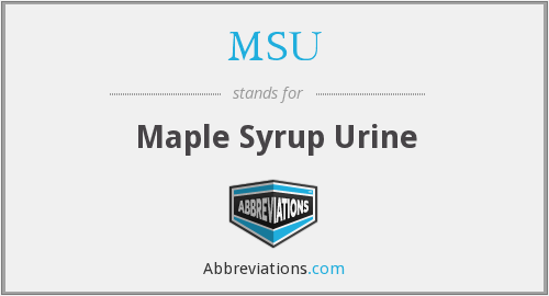 MSU - Maple Syrup Urine