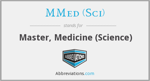 What does MMED (SCI) stand for?