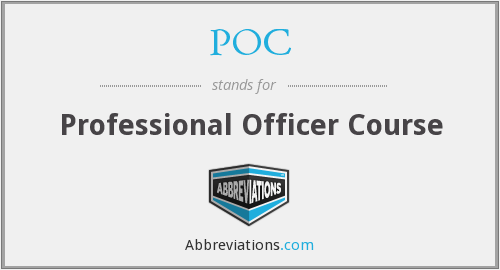 POC - Professional Officer Course