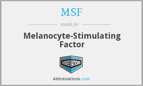 MSF - melanocyte-stimulating factor