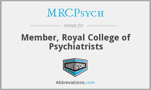 What does MRCPSYCH stand for?