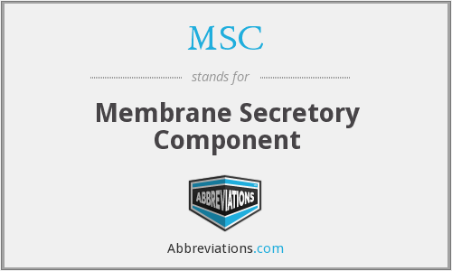 MSC - membrane secretory component