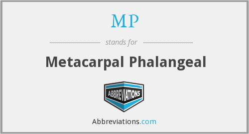 MP - metacarpal phalangeal
