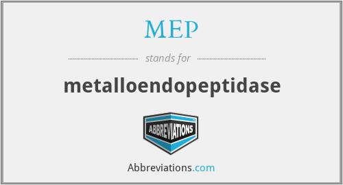 MEP - metalloendopeptidase