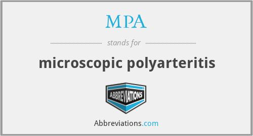 MPA - microscopic polyarteritis