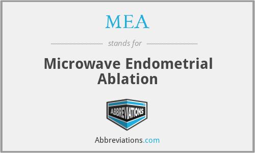 MEA - microwave endometrial ablation