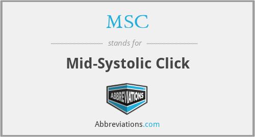 MSC - mid-systolic click