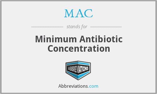 MAC - minimum antibiotic concentration