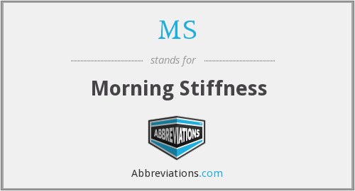 MS - morning stiffness