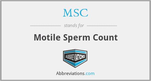 MSC - motile sperm count