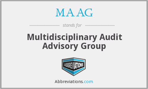 MAAG - Multidisciplinary Audit Advisory Group