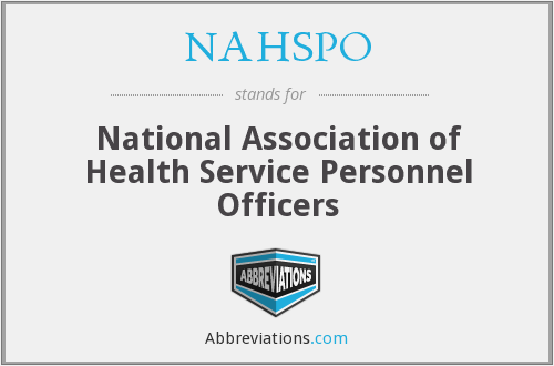 What does NAHSPO stand for?
