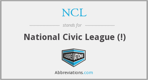 NCL - National Civic League (!)