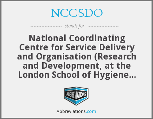 What does NCCSDO stand for?