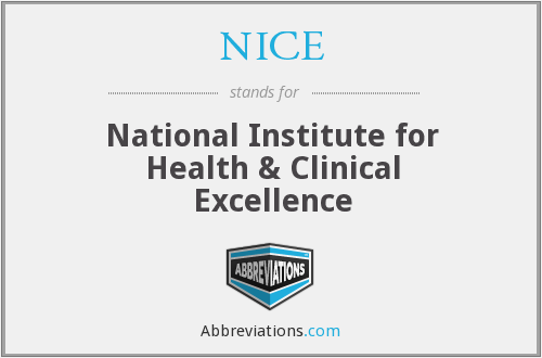 NICE - National Institute for Health & Clinical Excellence