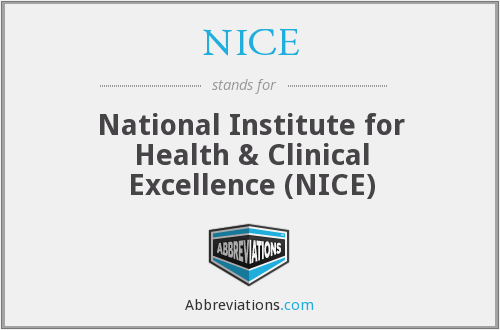 NICE - National Institute for Health & Clinical Excellence (NICE)