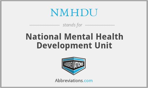 NMHDU - National Mental Health Development Unit