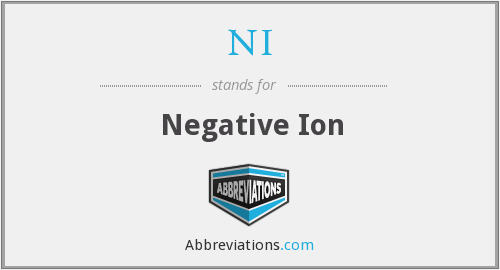 NI - negative ion