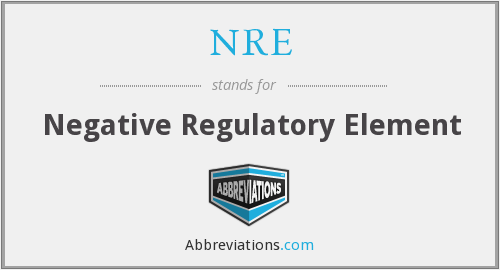 NRE - negative regulatory element