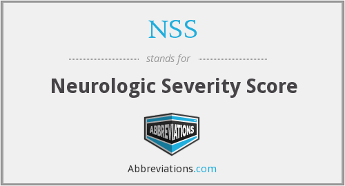 NSS - neurologic severity score