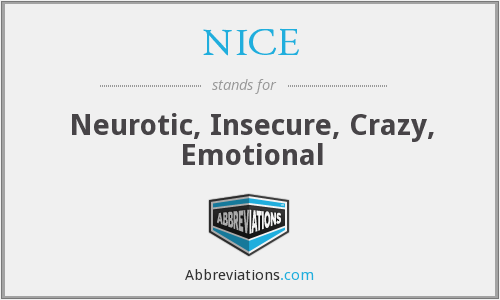 NICE - Neurotic, Insecure, Crazy, Emotional