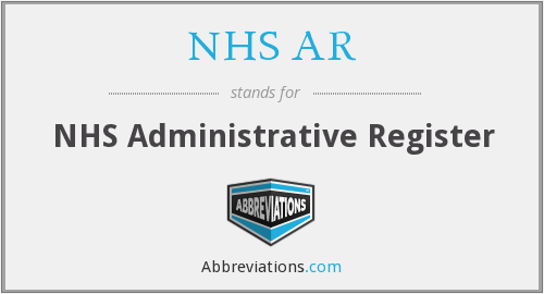 What does NHS AR stand for?