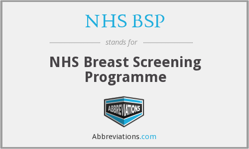 What does NHS BSP stand for?