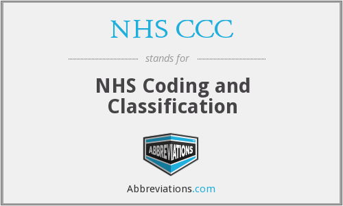 What does NHS CCC stand for?