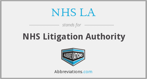 What does NHS LA stand for?